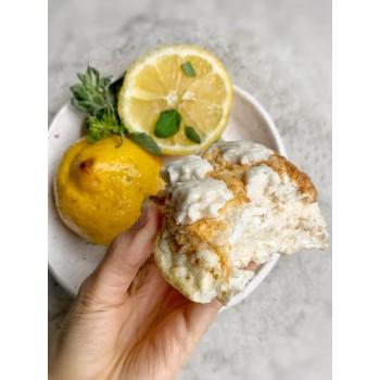 Cake de Limón (falsa ricota de claras con cítricos sin lácteo)